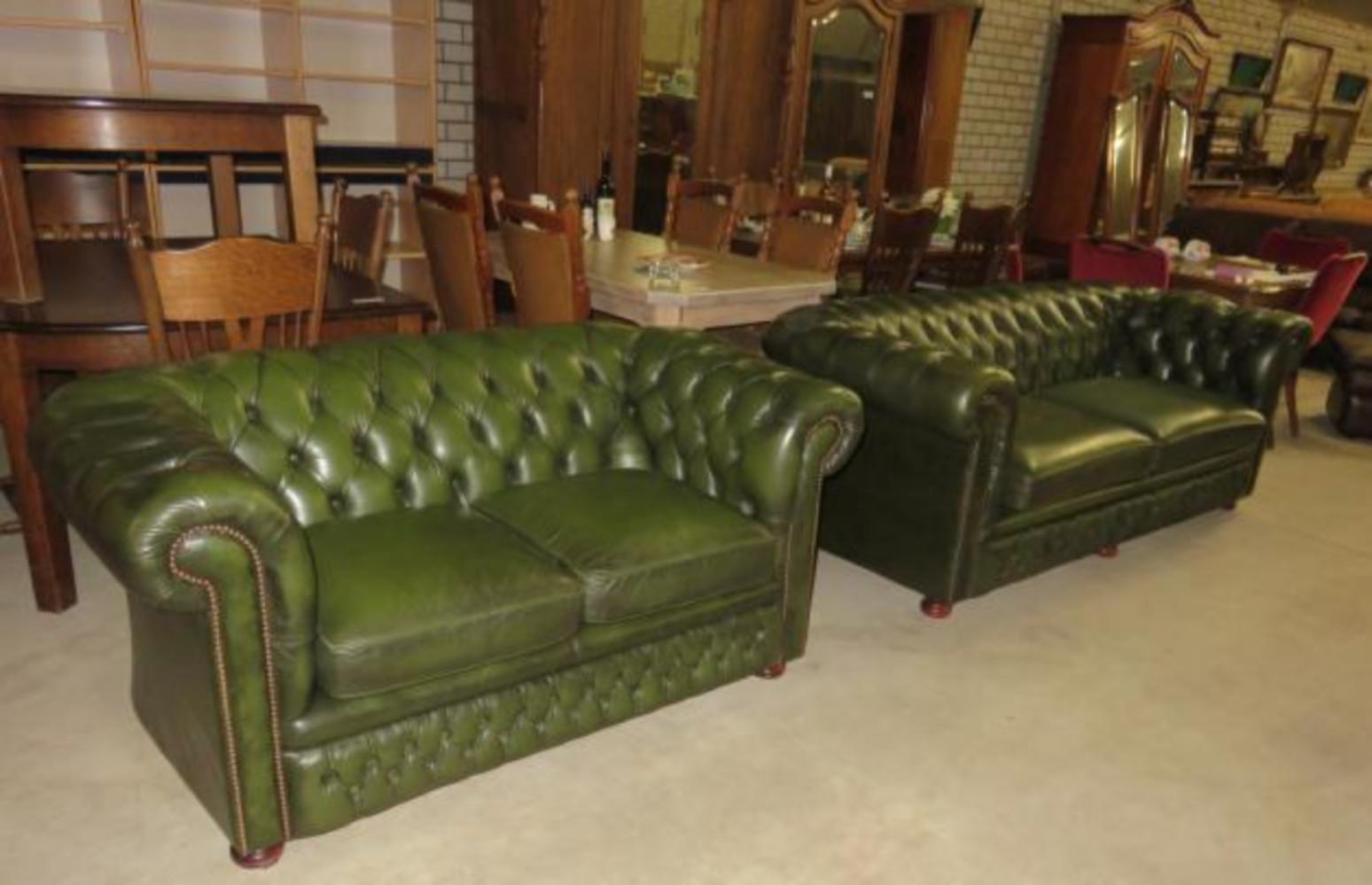Brilliant Nice 3 2 Green Chesterfield Sofa Set Sofasets Chairs Inzonedesignstudio Interior Chair Design Inzonedesignstudiocom