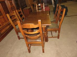 Solid Oak Table With 6 Chairs Dining Rooms Used Furniture Ad Hommeles Antiques Bv Import Export