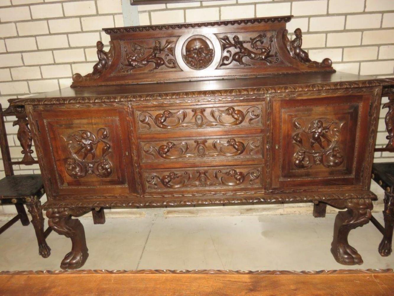 Super Spanish Antique Diningroom Set Dining Rooms Antiques Ad Hommeles Antiques Bv Import Export
